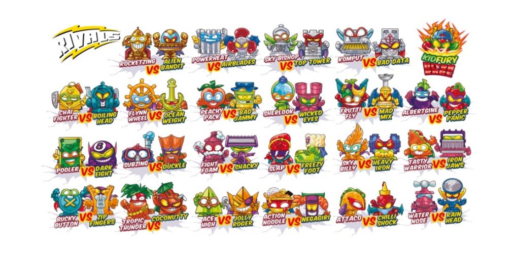 Personajes de los SuperZings serie 5