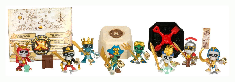 Treasure X, sus personajes y tesoros