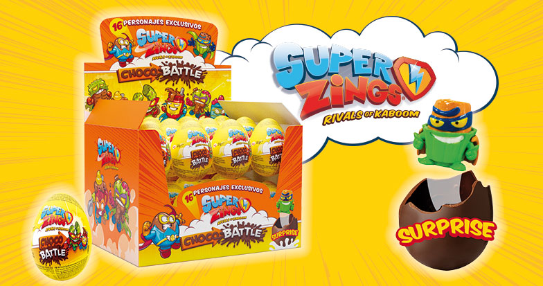 Los Huevos de Chocolate de SuperZings Serie 6